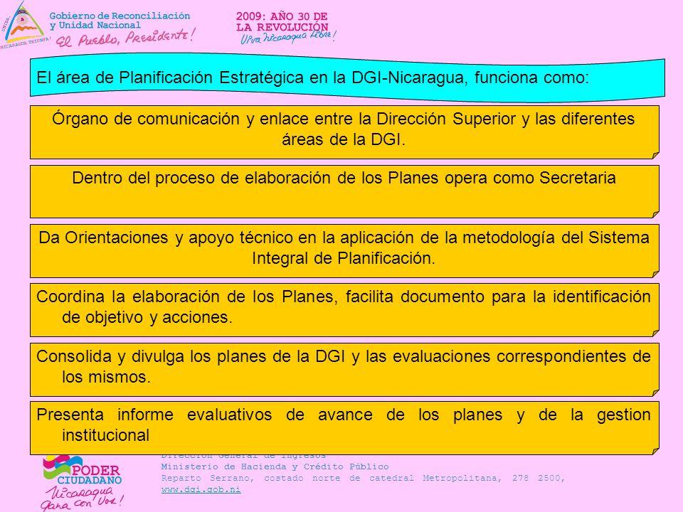 Dentro del proceso de elaboración de los Planes opera como Secretaria