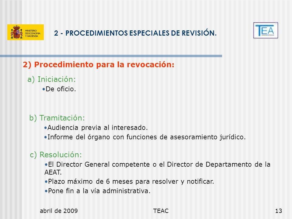 2 - PROCEDIMIENTOS ESPECIALES DE REVISIÓN.