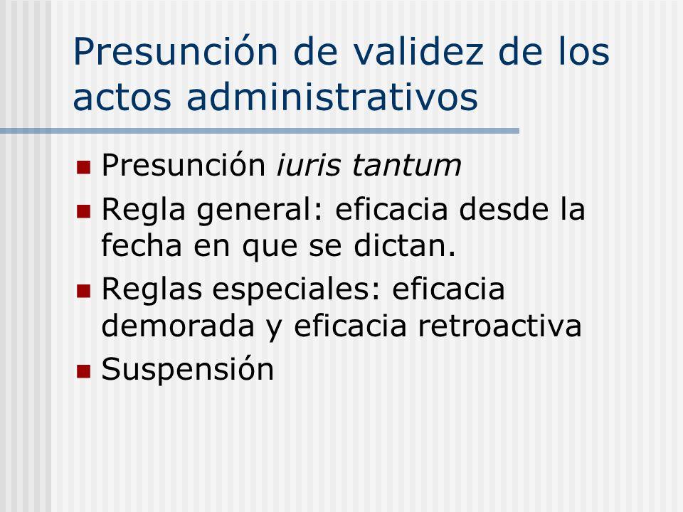 Presunción de validez de los actos administrativos