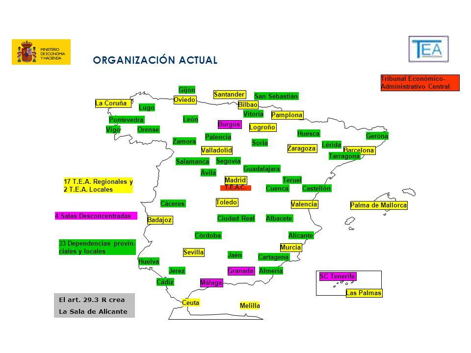 ORGANIZACIÓN ACTUAL Tribunal Económico-Administrativo Central León