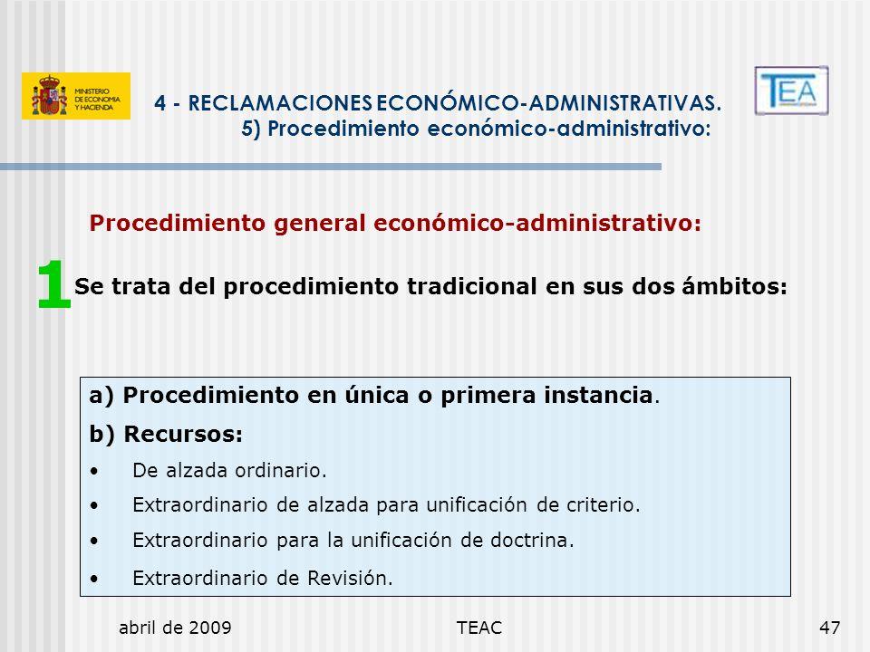 1 4 - RECLAMACIONES ECONÓMICO-ADMINISTRATIVAS.