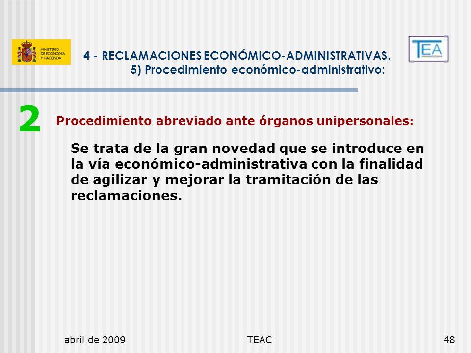 2 4 - RECLAMACIONES ECONÓMICO-ADMINISTRATIVAS.