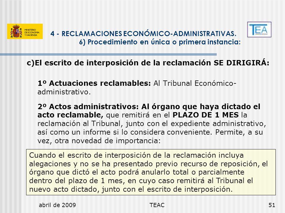 4 - RECLAMACIONES ECONÓMICO-ADMINISTRATIVAS.