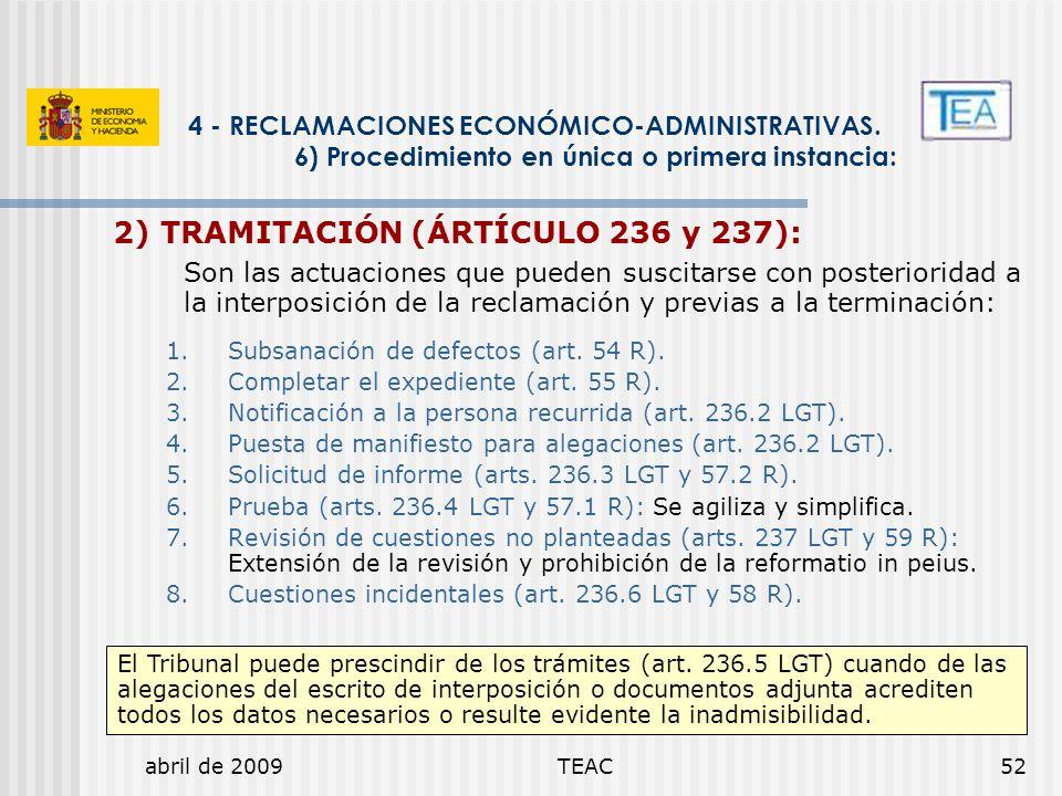 2) TRAMITACIÓN (ÁRTÍCULO 236 y 237):