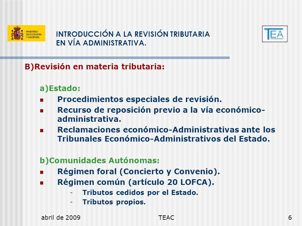 INTRODUCCIÓN A LA REVISIÓN TRIBUTARIA EN VÍA ADMINISTRATIVA.