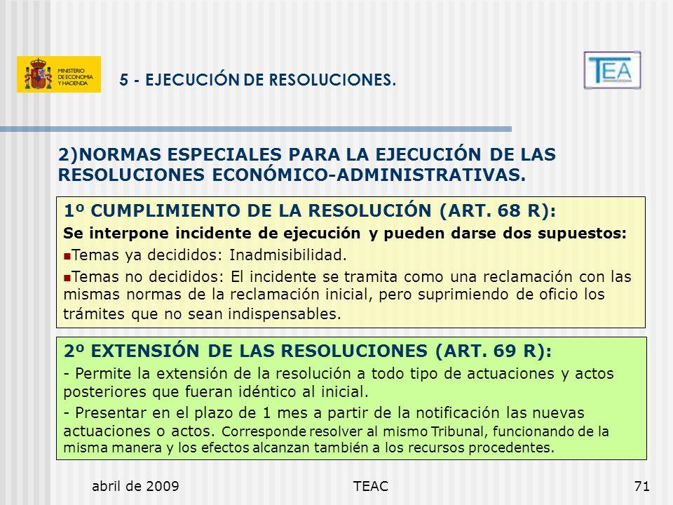 5 - EJECUCIÓN DE RESOLUCIONES.