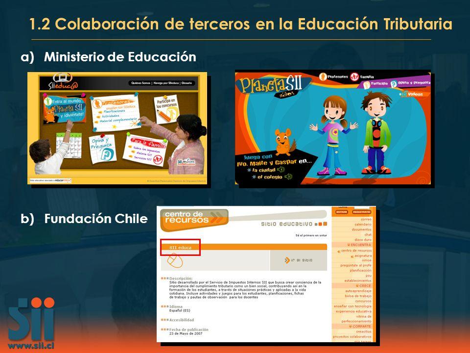 1.2 Colaboración de terceros en la Educación Tributaria
