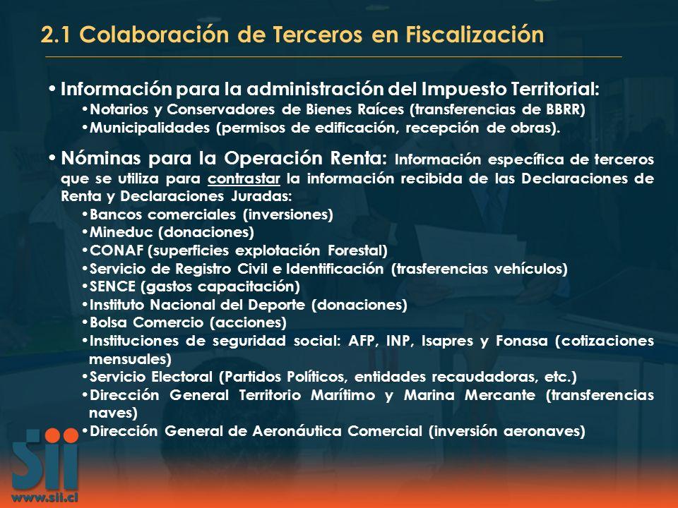 2.1 Colaboración de Terceros en Fiscalización