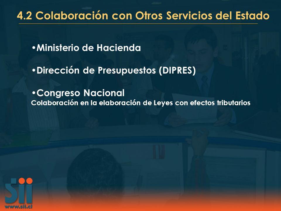 4.2 Colaboración con Otros Servicios del Estado