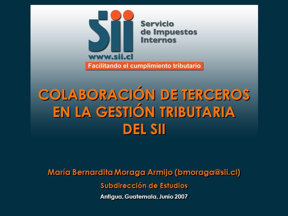 COLABORACIÓN DE TERCEROS EN LA GESTIÓN TRIBUTARIA DEL SII
