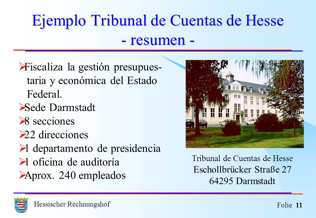 Ejemplo Tribunal de Cuentas de Hesse - resumen -