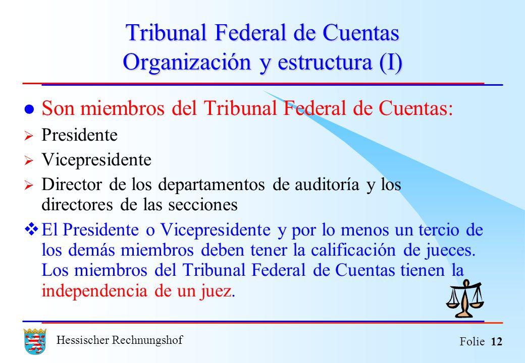 Tribunal Federal de Cuentas Organización y estructura (I)
