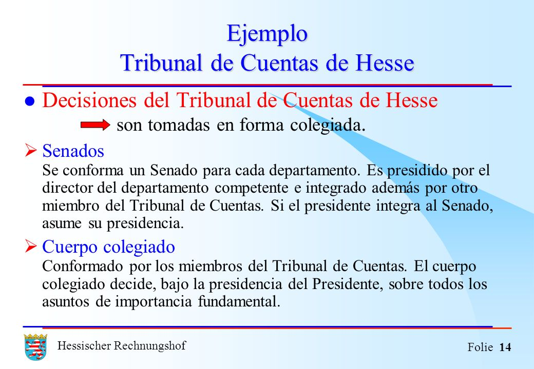 Ejemplo Tribunal de Cuentas de Hesse