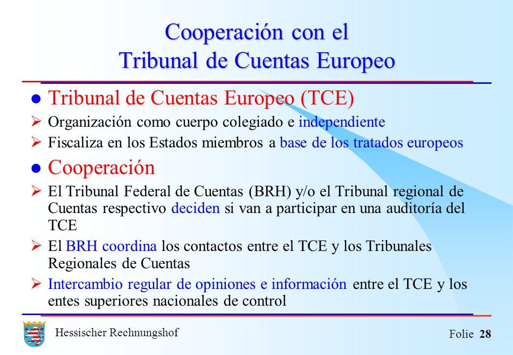 Cooperación con el Tribunal de Cuentas Europeo