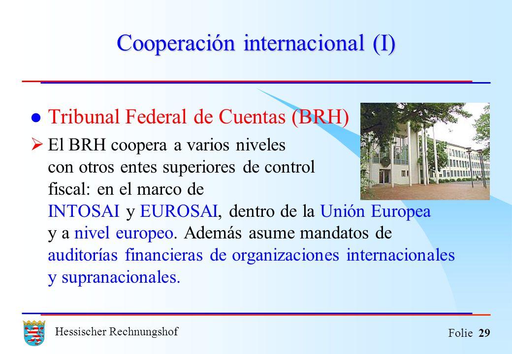 Cooperación internacional (I)