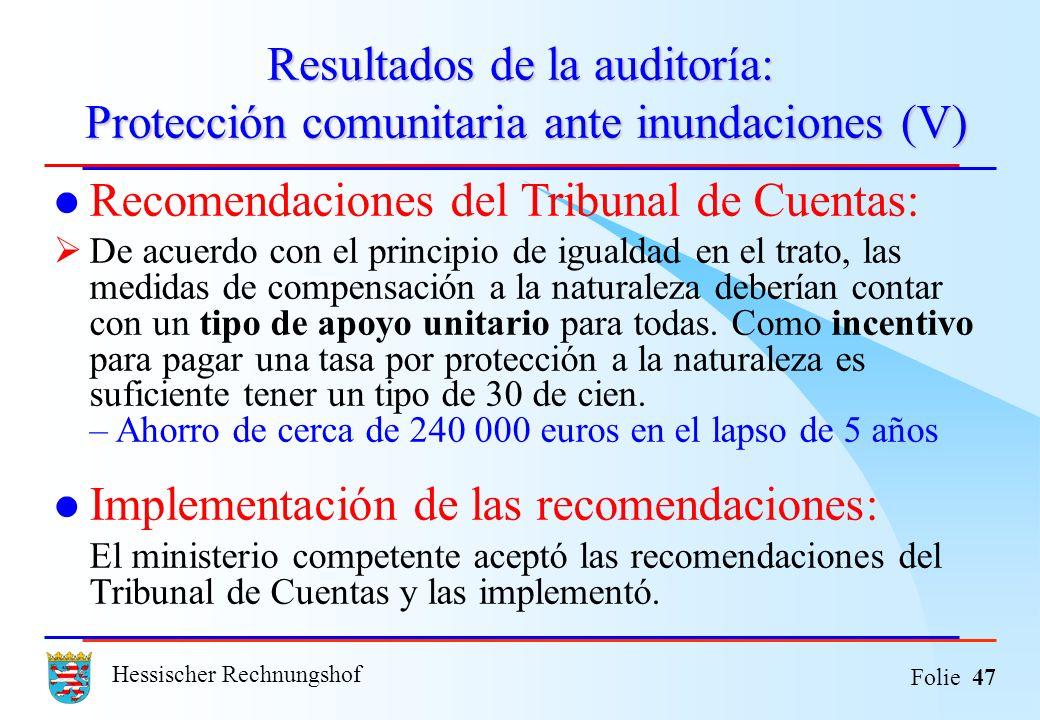 Recomendaciones del Tribunal de Cuentas: