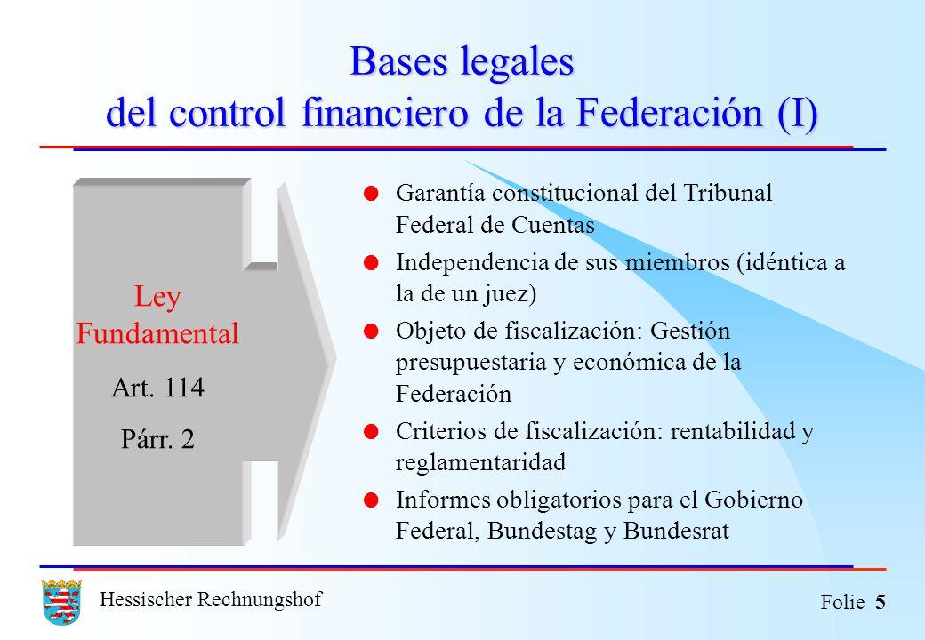 Bases legales del control financiero de la Federación (I)