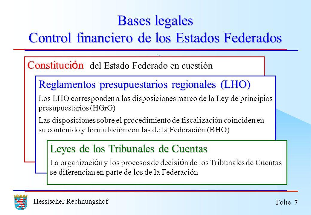 Bases legales Control financiero de los Estados Federados