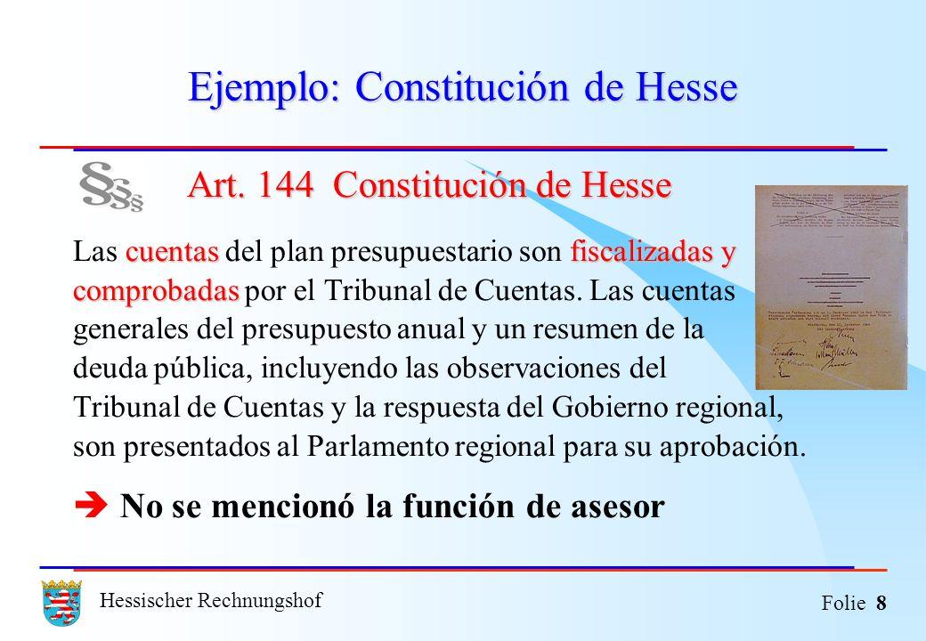 Ejemplo: Constitución de Hesse