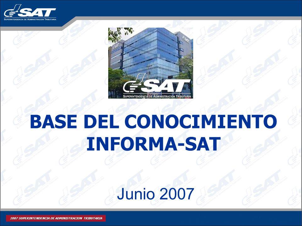 BASE DEL CONOCIMIENTO INFORMA-SAT