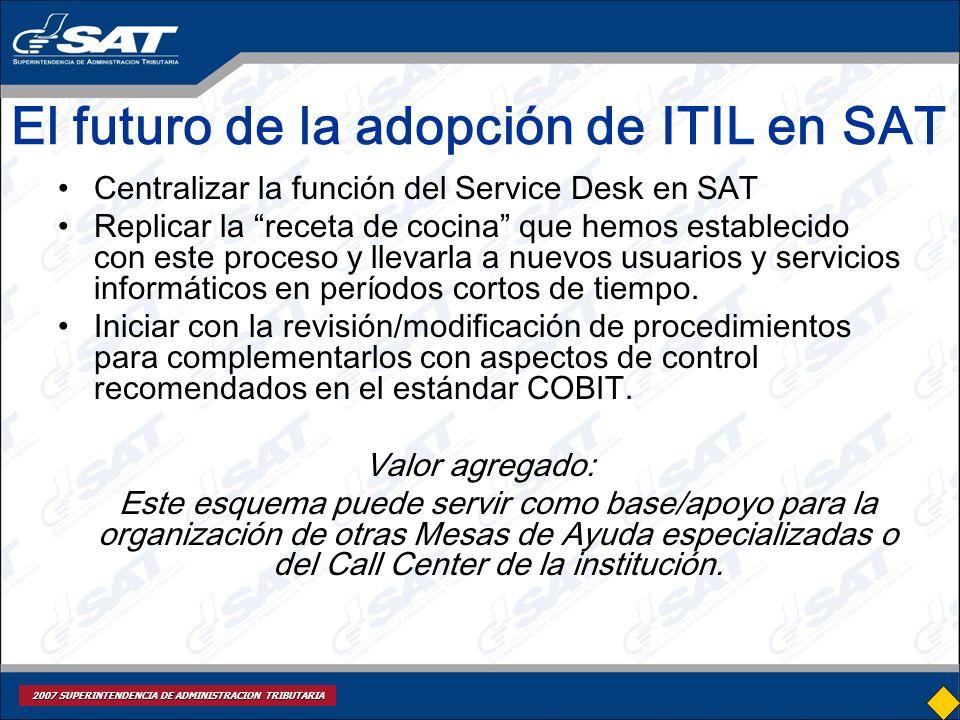 El futuro de la adopción de ITIL en SAT