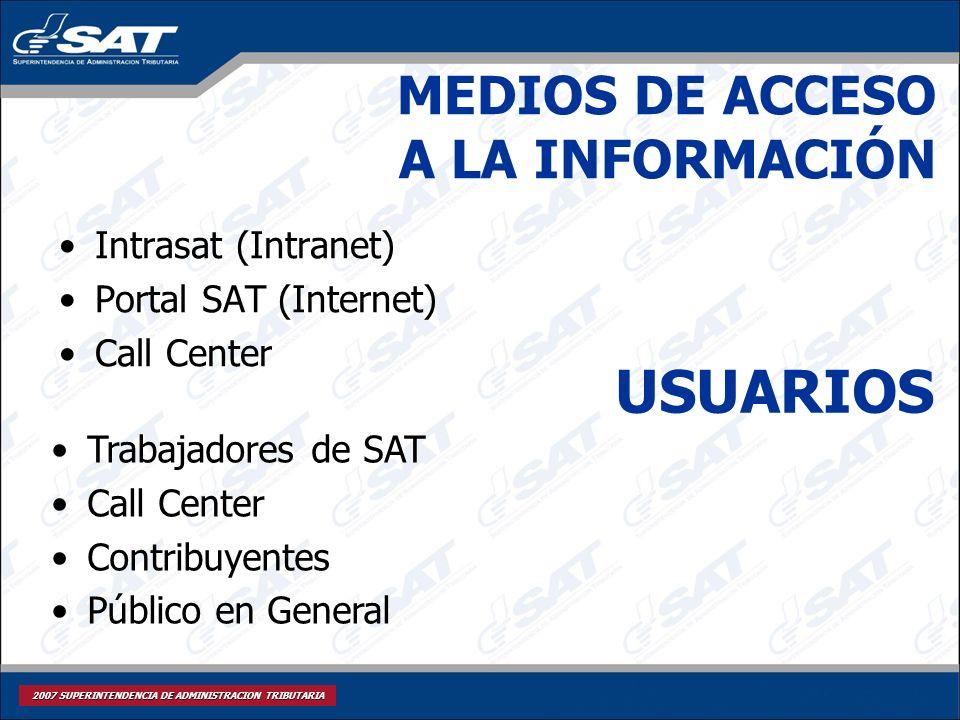 MEDIOS DE ACCESO A LA INFORMACIÓN