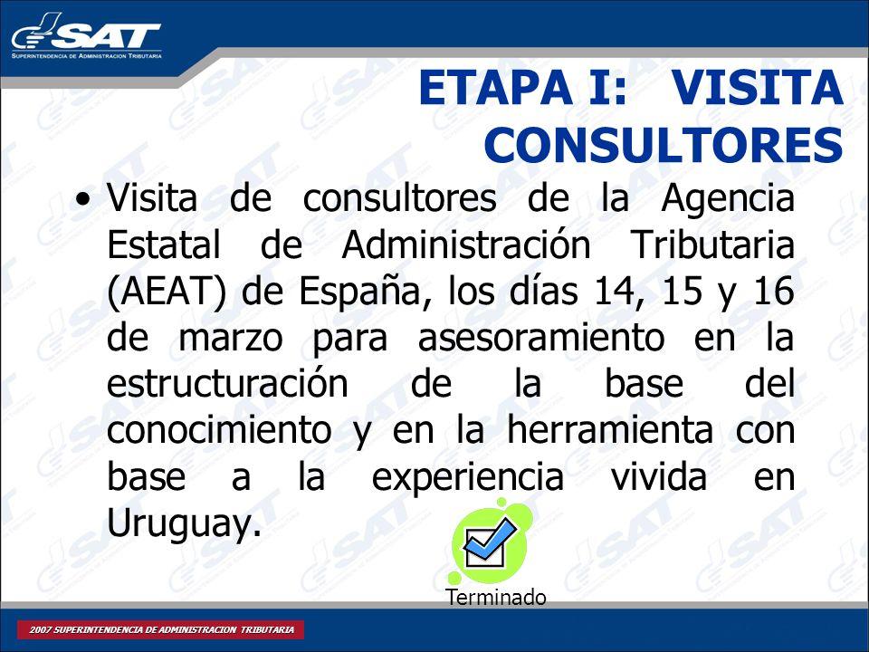 ETAPA I: VISITA CONSULTORES