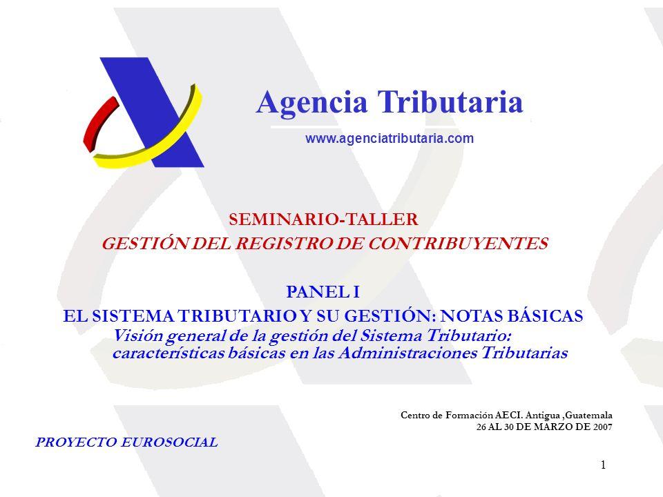 Agencia Tributaria SEMINARIO-TALLER