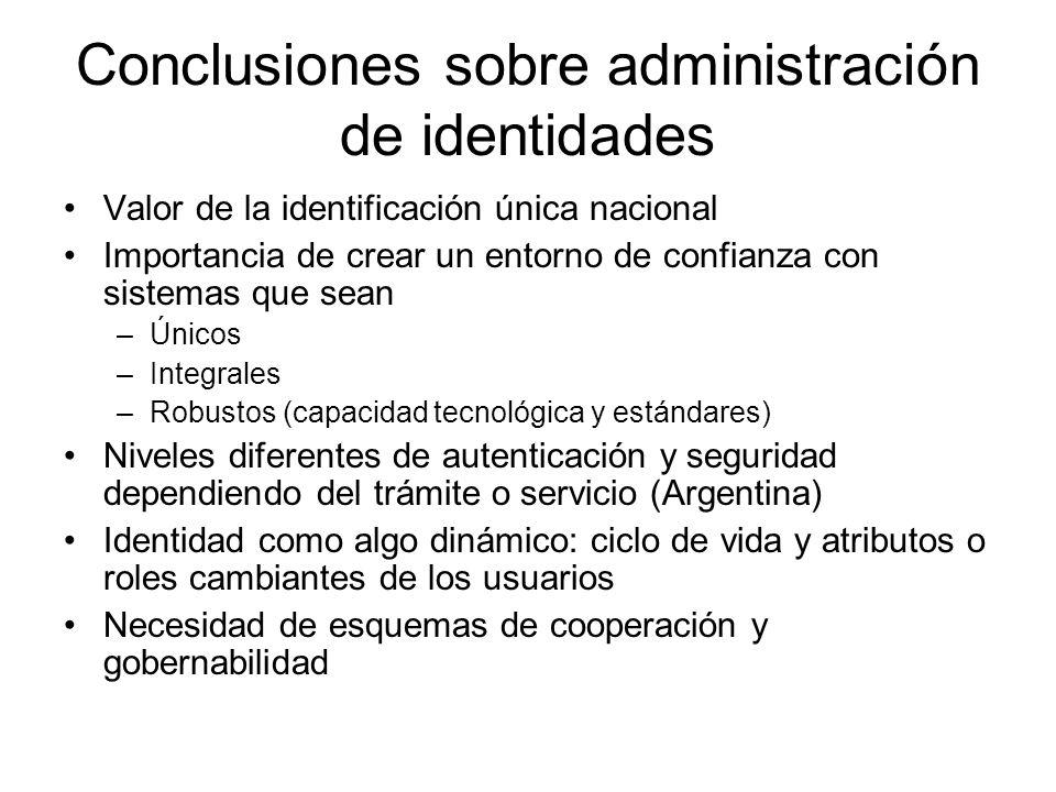 Conclusiones sobre administración de identidades