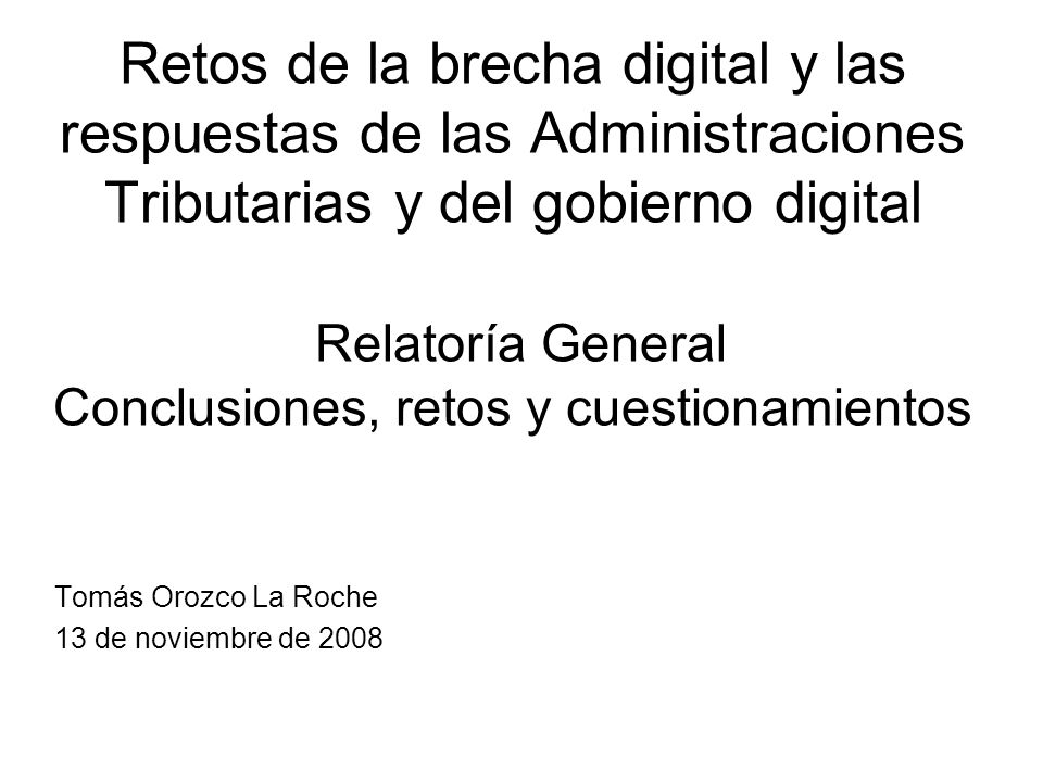 Tomás Orozco La Roche 13 de noviembre de 2008