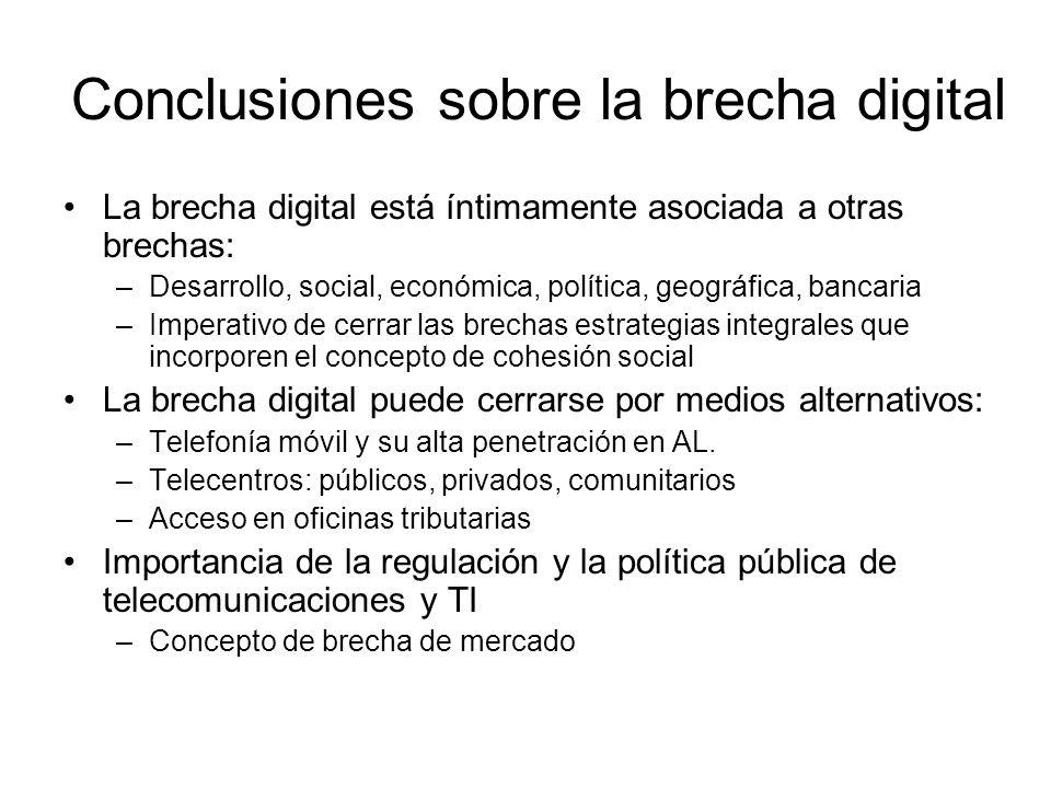 Conclusiones sobre la brecha digital