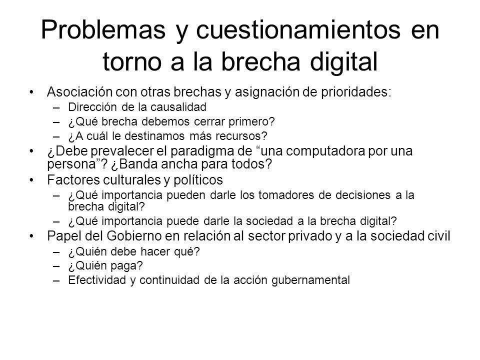 Problemas y cuestionamientos en torno a la brecha digital