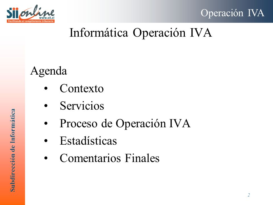 Informática Operación IVA