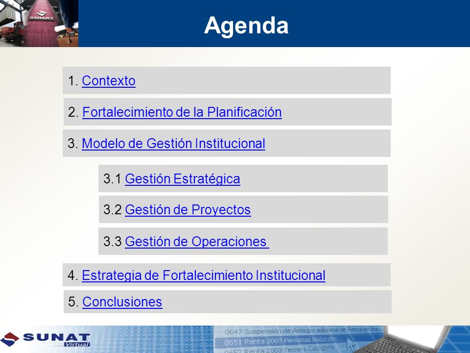 Agenda 1. Contexto 2. Fortalecimiento de la Planificación