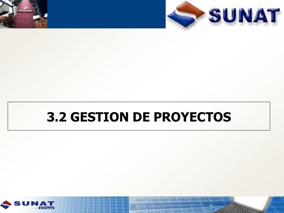 3.2 GESTION DE PROYECTOS