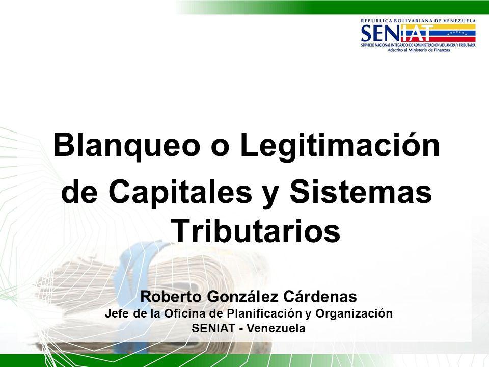 Blanqueo o Legitimación de Capitales y Sistemas Tributarios