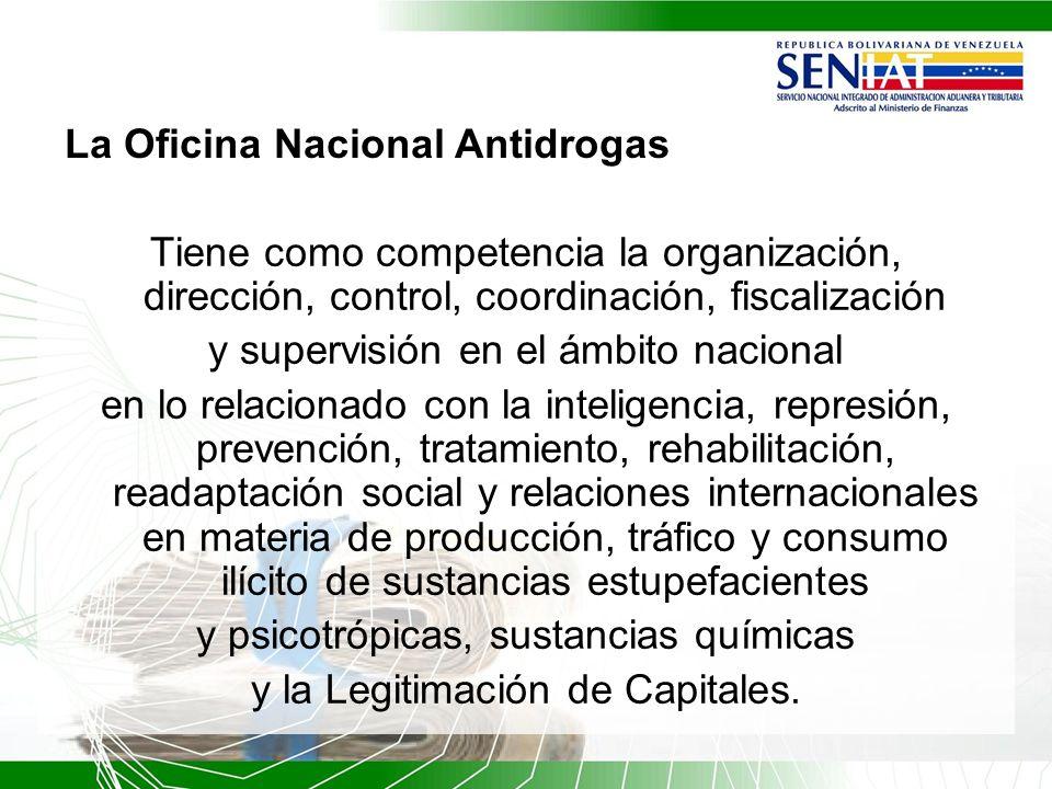 La Oficina Nacional Antidrogas