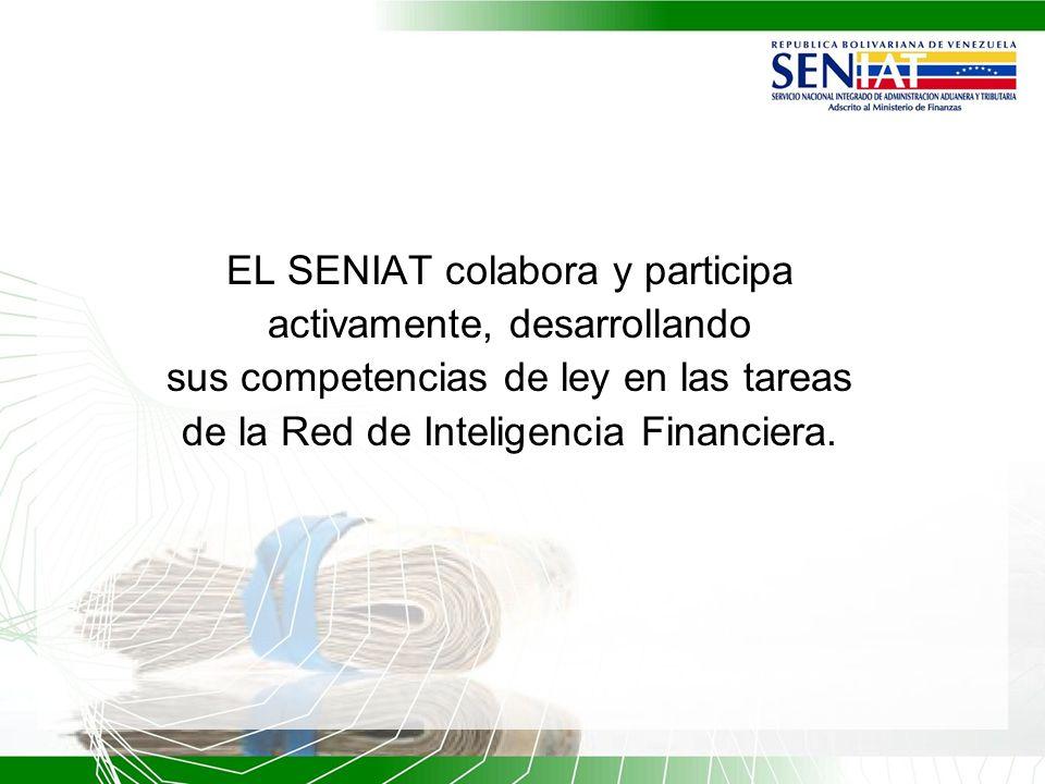 EL SENIAT colabora y participa activamente, desarrollando