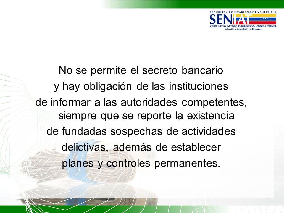 No se permite el secreto bancario