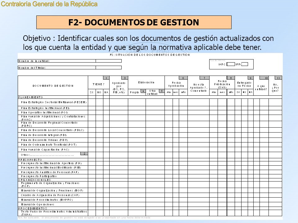 F2- DOCUMENTOS DE GESTION