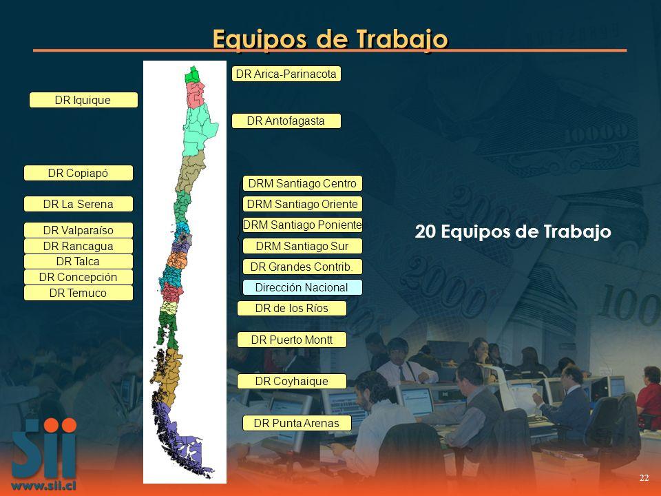Equipos de Trabajo 20 Equipos de Trabajo DR Arica-Parinacota
