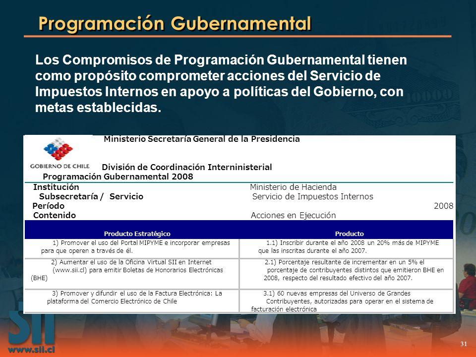 Programación Gubernamental