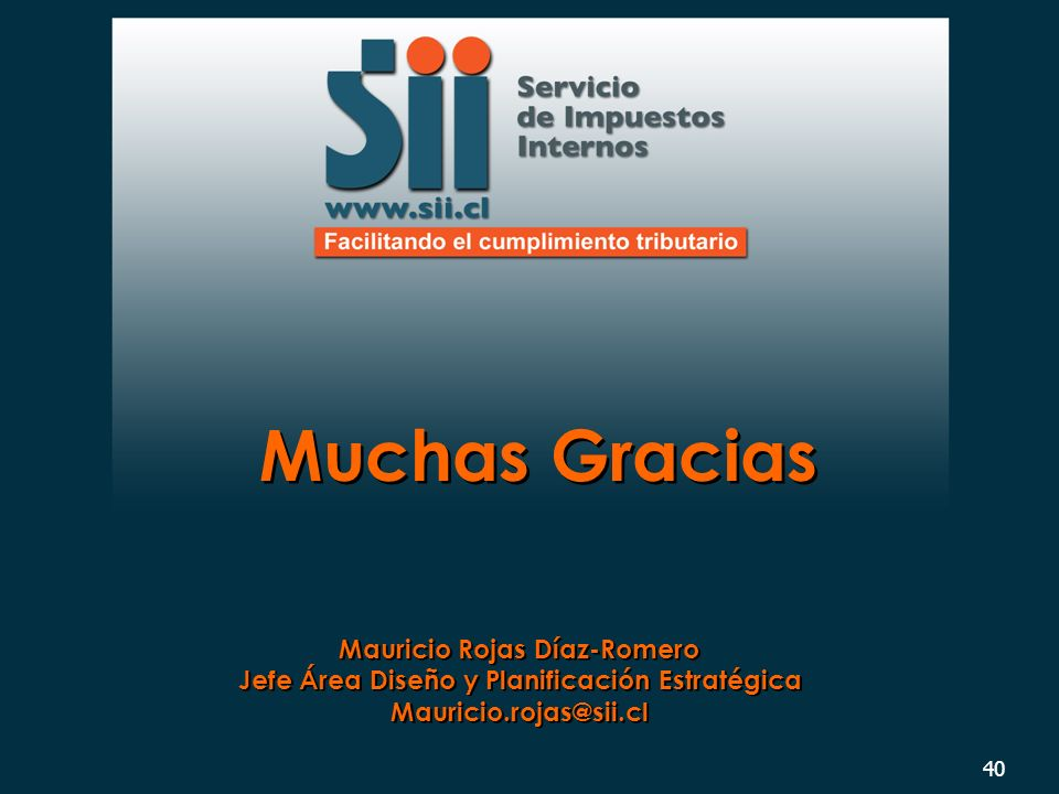 Muchas Gracias Mauricio Rojas Díaz-Romero
