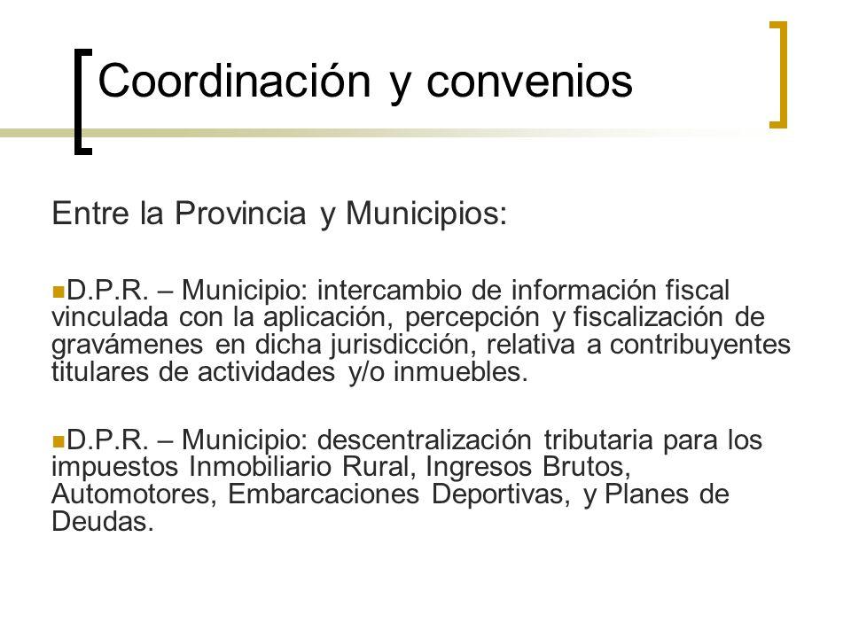 Coordinación y convenios