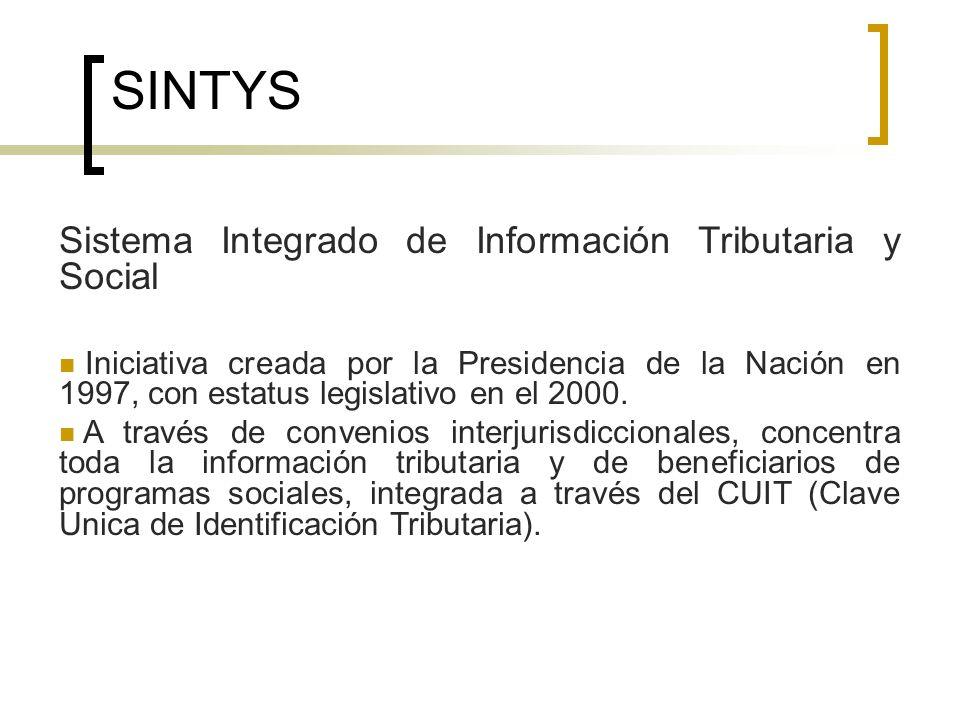 SINTYS Sistema Integrado de Información Tributaria y Social