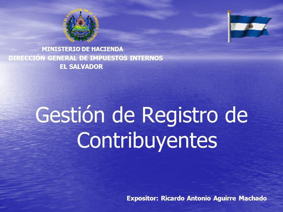 Gestión de Registro de Contribuyentes