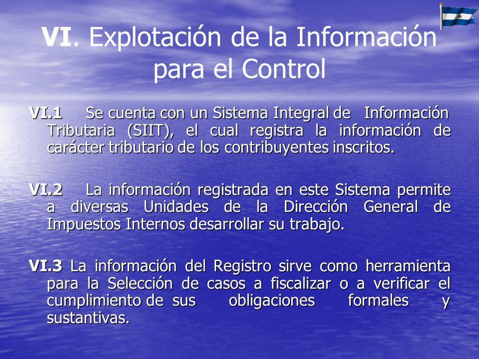 VI. Explotación de la Información para el Control