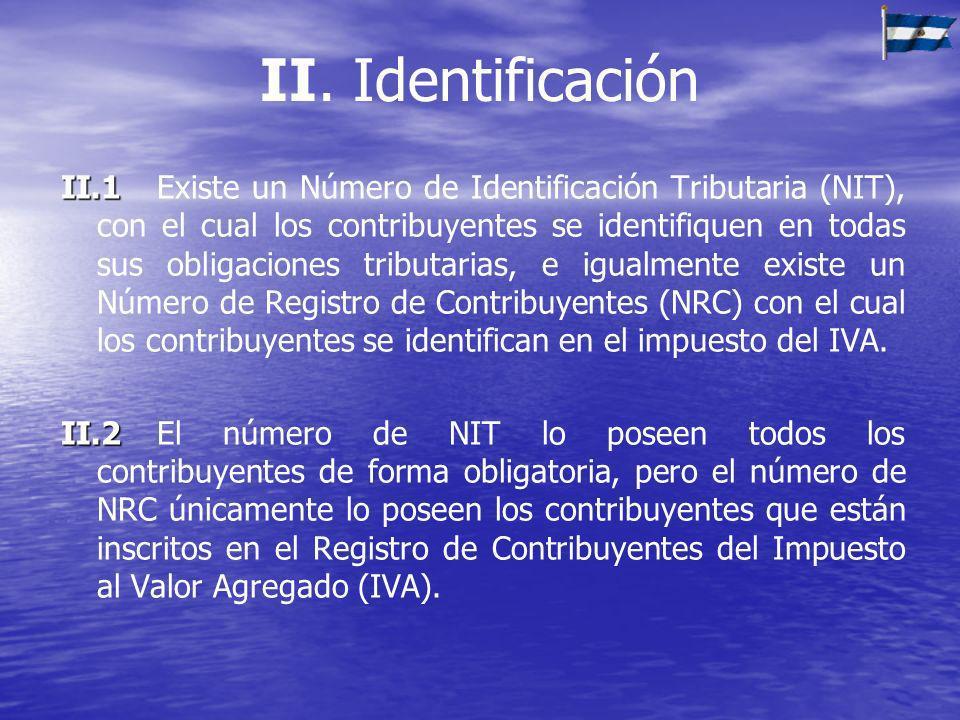 II. Identificación