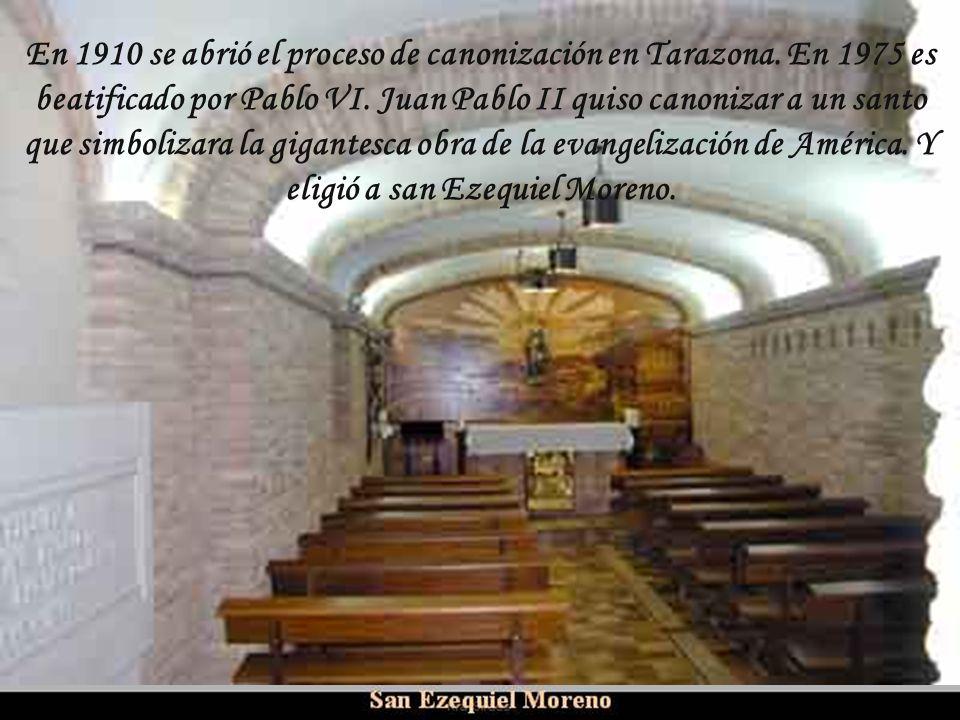 En 1910 se abrió el proceso de canonización en Tarazona
