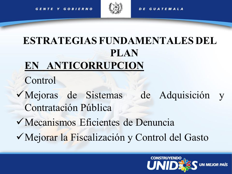 ESTRATEGIAS FUNDAMENTALES DEL PLAN